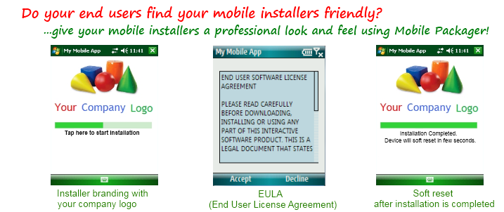 Create professional looking mobile installers